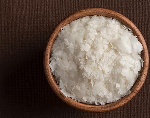 Reisflocken in einer Schüssel
