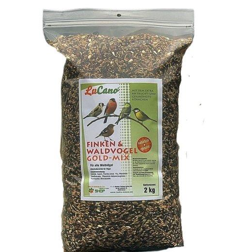 LuCano Finken- und Waldvogel Futter Gold-Mix mit Früchten