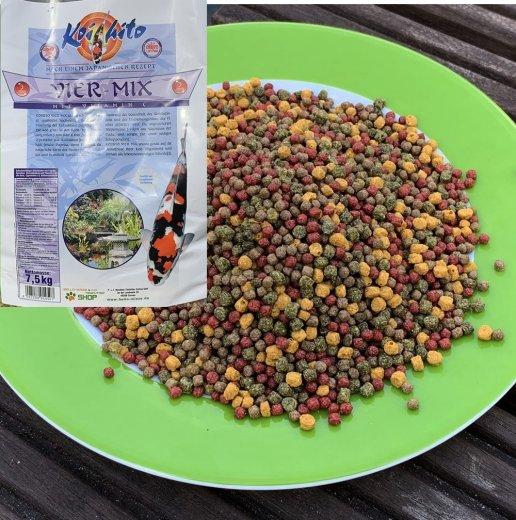 Koifutter Koihito 4 Mix 3 mm in bester Züchterqualität mit Vitamin C  2 ltr