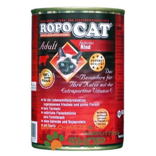 RopoCat Adult Rind | Katzen Nassfutter - Dosenfutter mit Taurin