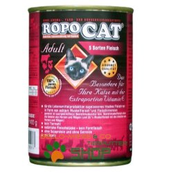 RopoCat Adult 5 Sorten Fleisch | Katzenfutter - Katzen...
