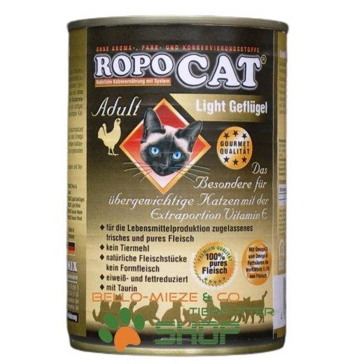 RopoCat Adult Light Geflügel   Katzenfutter - Katzen Nassfutter - Dosenfutter mit Taurin