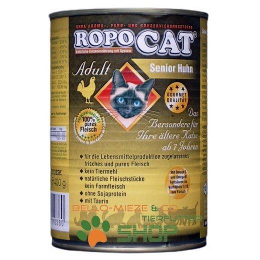 RopoCat Senior Huhn   Katzenfutter - Katzen Nassfutter - Dosenfutter mit Taurin
