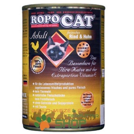 RopoCat Adult Rind & Huhn   Katzen Nassfutter - Dosenfutter mit Taurin