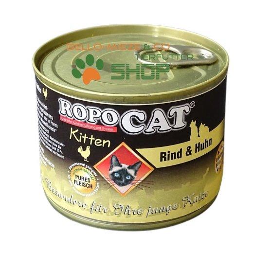 RopoCat Kitten Rind & Huhn | Katzenfutter - Katzen Nassfutter - Dosenfutter mit Taurin