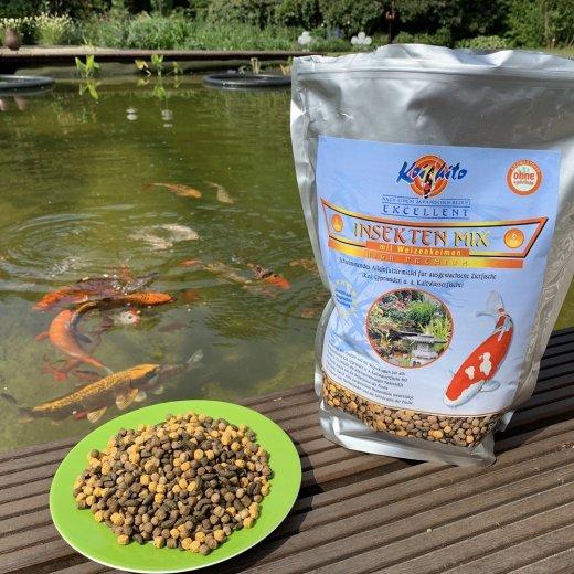 Koifutter Koihito Insekten Mix 6 mm | mit Weizenkeimen