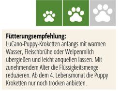 LuCano Welpen   Puppy Trockenfutter für kleine - und mittelgroße Hunde Rassen