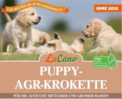 LuCano Welpen | Puppy AGR Premium Trockenfutter für mittel- und große Hunde Rassen