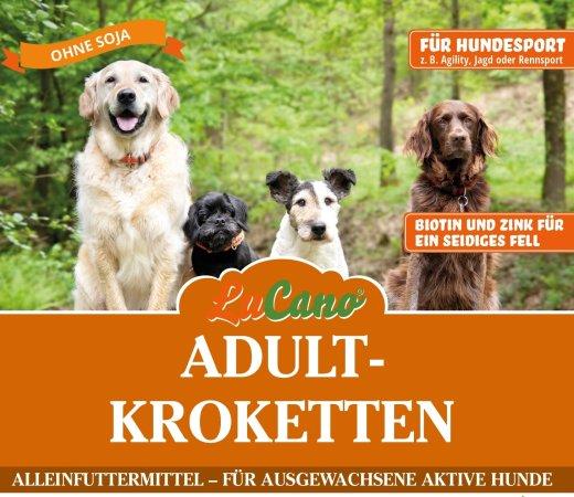 LuCano Adult Premium-Krokette Soja frei / mit Biotin und Zink für sein seidiges Fell