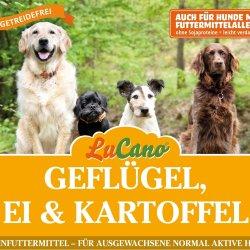 LuCano Geflügel-Ei-Kartoffel getreidefreies Hunde...