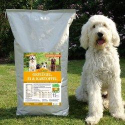 LuCano Geflügel-Ei-Kartoffel getreidefreies Hunde Trockenfutter