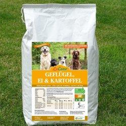 LuCano Geflügel-Ei-Kartoffel getreidefreies Hunde Trockenfutter 15 kg