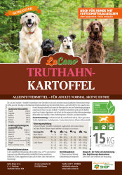 LuCano Truthahn + Kartoffel | getreidefreies Hunde Trockenfutter