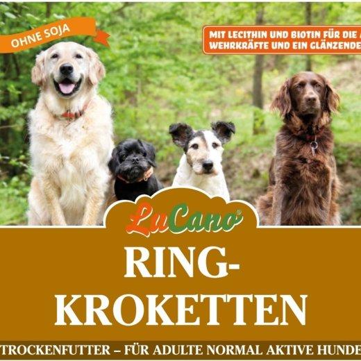 LuCano Ring Premium Krokette / Hunde Trockenfutter mit Lecithin und Biotin