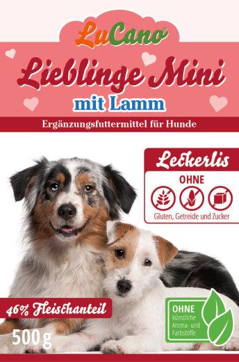 Leckerlis LuCano Lieblinge Mini + Lamm getreidefrei glutenfrei und ohne Zucker | Hunde Snack 0,50 kg