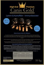 Canis Gold Welpen | Junior Lamm + Kartoffel | 55 %...