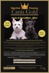 Canis Gold Adult MINI 70 % Huhn + Kartoffeln...