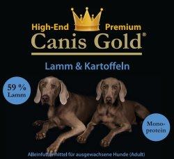 30 kg Canis Gold Mix 1 x 10 kg Lamm 1 x 10 kg Kaninchen 1 x 10 kg Huhn mit Kartoffel