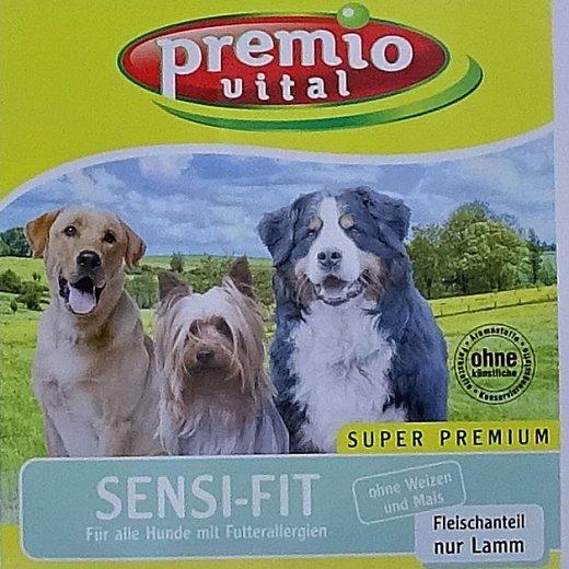 Premio Vital Sensi-Fit   Fleischanteil nur Lamm mit Reis   Hunde Trockenfutter