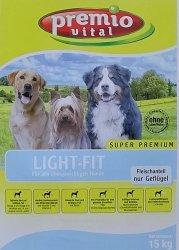 Premio Vital Light-Fit | Geflügel + Mais und Reis | Hunde Trockenfutter