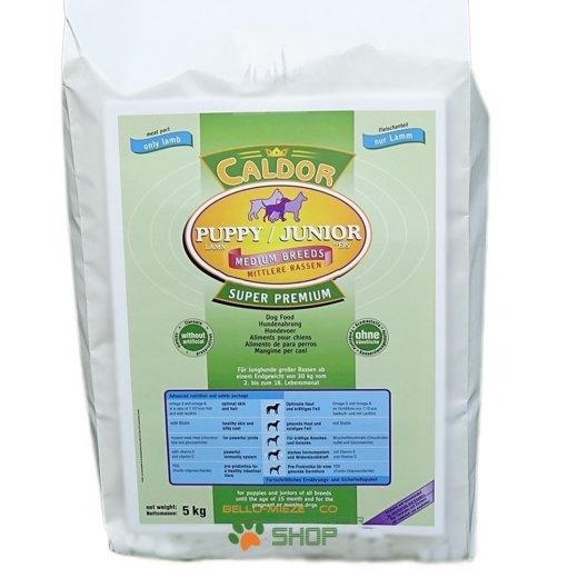 Caldor Puppy + Junior Medium Lamm & Reis