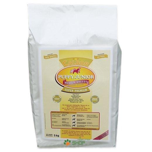 Caldor Puppy + Junior Medium mit 30 % Huhn & Reis-Mais