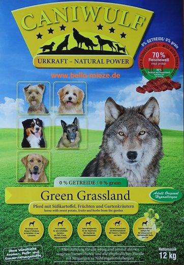 CaniWulf Green Grassland | Pferd mit Süßkartoffel,Früchten und Gartenkräutern