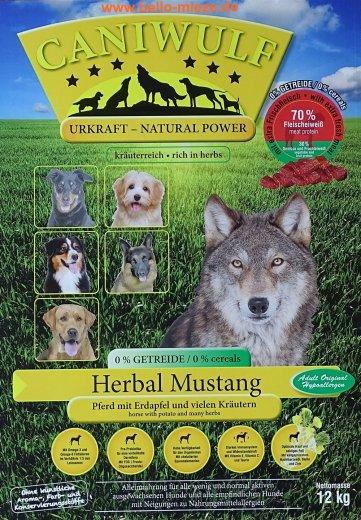 CaniWulf Herbal Mustang | Pferd mit Erdapfel und Kräutern | getreidefrei
