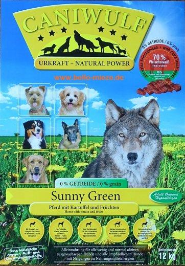 CaniWulf Sunny Green | Pferd mit Kartoffel und Früchten | getreidefrei