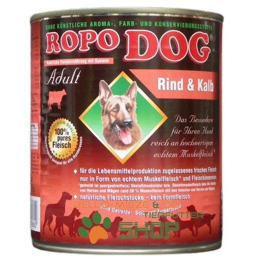 RopoDog Adult Rind & Kalb - 100% Fleisch