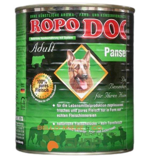 RopoDog Adult Pansen - 100% Fleisch 24 Dosen à 400 gr.