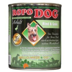 RopoDog Adult Rind & Gans - 100% Fleisch 400 gr