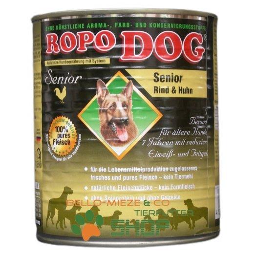 RopoDog Senior Rind & Huhn - 96 % Fleisch