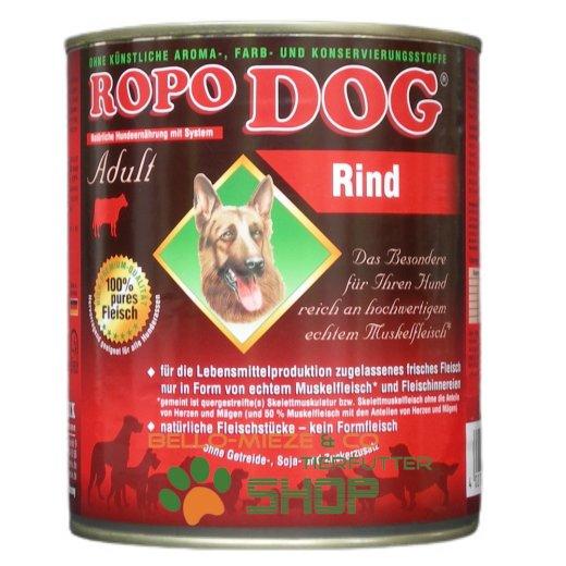 RopoDog Adult Rind - 100 % Fleisch mit ganzen Fleischstücken