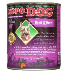 RopoDog Adult Rind & Herz - 100% Fleisch 12 Dosen...