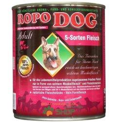 RopoDog Adult 5 Sorten Fleisch - 100 % Fleisch 12 Dosen...