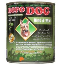 RopoDog Adult Rind & Wild - 100 % Fleisch 800 gr