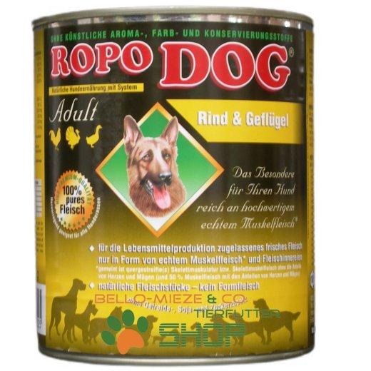 RopoDog Adult Rind & Geflügel - 100% Fleisch 400 gr