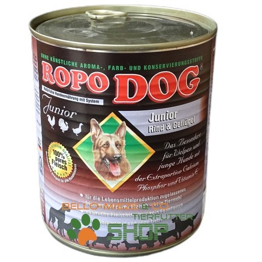 RopoDog Junior Rind & Geflügel - 100% Fleisch