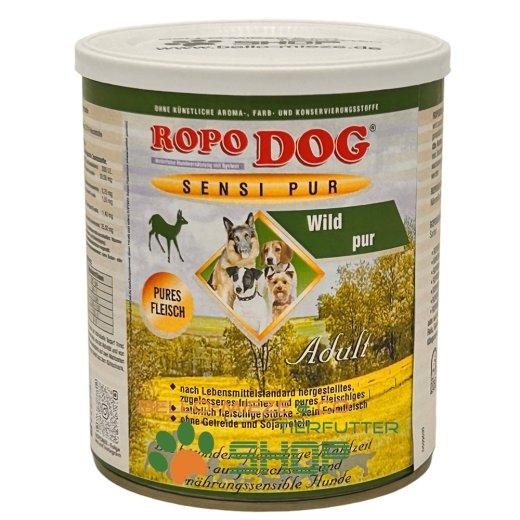 RopoDog Adult Sensi Pur Wild - pures Fleisch 12 Dosen à 800 gr.