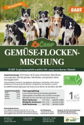 LuCano Gemüseflocken Mix | Hunde BARF Ergänzung 1 kg