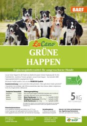 LuCano Grüne - Happen   Hunde BARF Ergänzung 1 kg