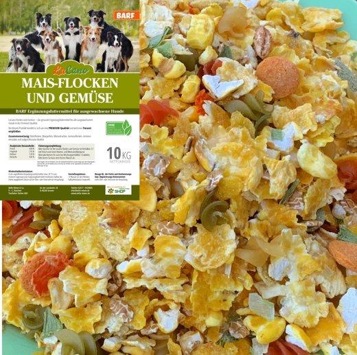 LuCano Mais Flocken + Gemüse - Hunde BARF   Flocken Mix   Flockenmix Hund