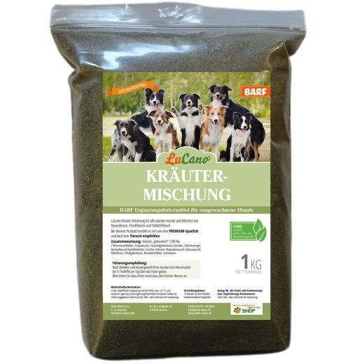 LuCano Kräutermischung | BARF / Fleisch Ergänzung für Hunde