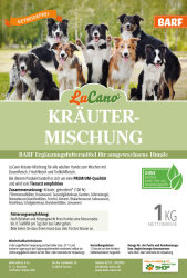 LuCano Kräutermischung   BARF / Fleisch Ergänzung für Hunde