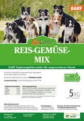 LuCano Reis - Gemüse Mix | ( Reispops, gepufft ) BARF Ergänzungsfutter 1 kg