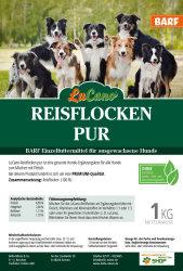 LuCano Reisflocken pur | BARF Ergänzungsfutter für Hunde