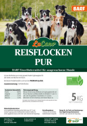 LuCano Reisflocken pur   BARF Ergänzungsfutter für Hunde 10 kg