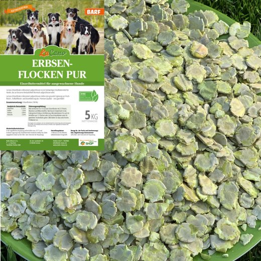 LuCano Erbsenflocken pur | hochverdauliche Gemüseflocken