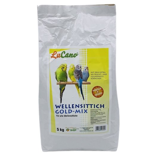 LuCano Wellensittich Futter Gold-Mix mit Früchten
